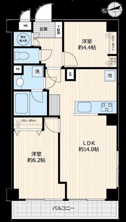 ライオンズマンション神楽坂第3_405号室間取図