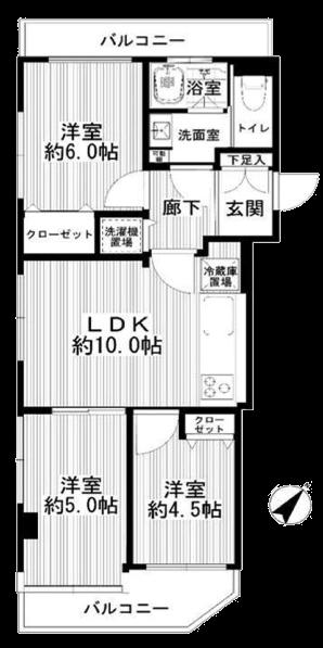 ドヌール柳橋1002間取図