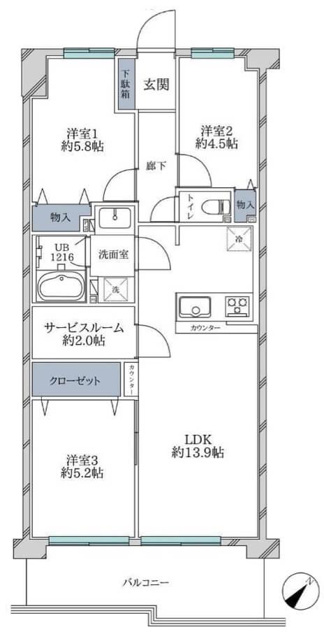 コスモ一之江509