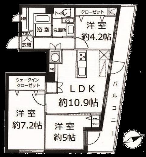 ライオンズマンション多摩川六郷4F