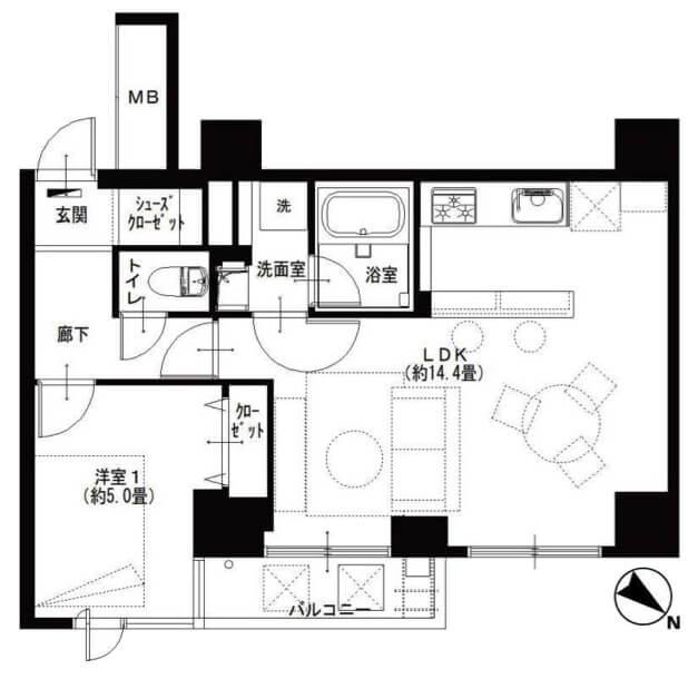西新宿ビューハイツ304