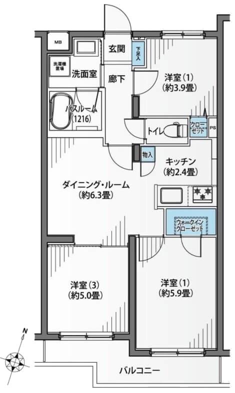 セザール大井町202