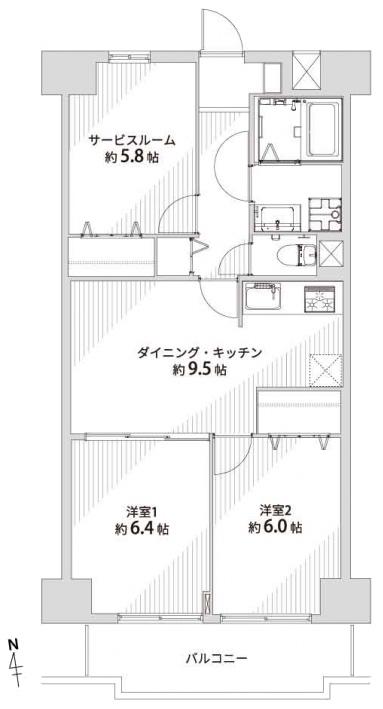 エンゼルハイム竹の塚駅前205