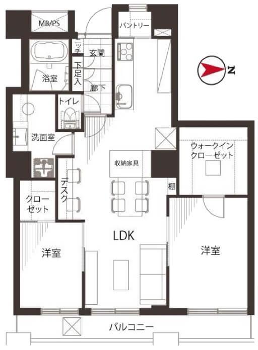 西戸山タワーホウムズサウスタワー302
