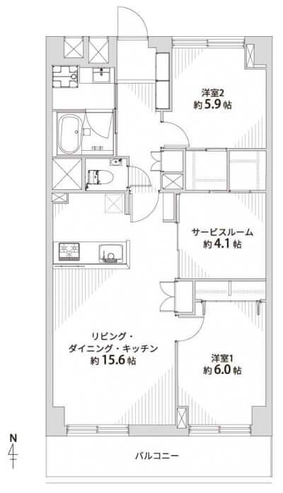 日商岩井木場マンション406