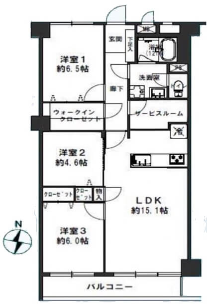 ライオンズマンション上野毛A棟603