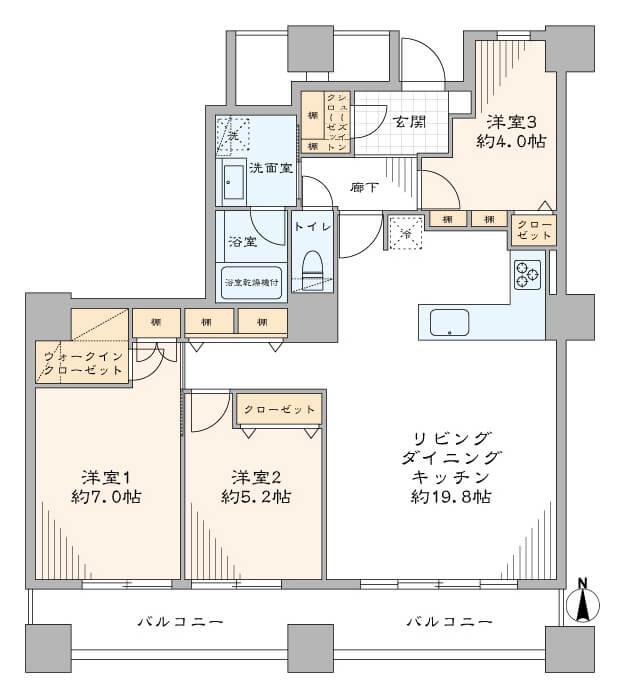 西戸山タワーホウムズノースタワー1205