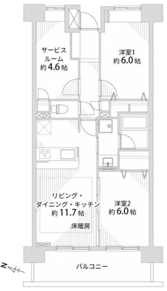 クレストフォルム上野の杜1202