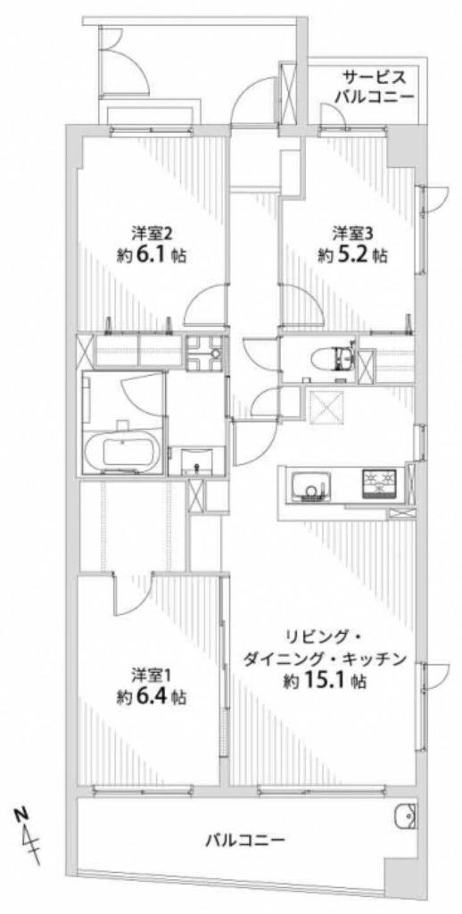 ユニーブル西荻窪Ⅱ203