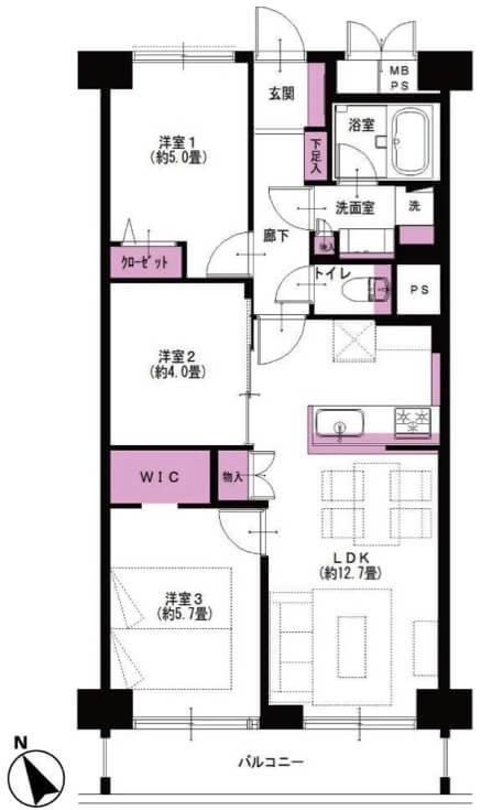サンファミール西早稲田1106