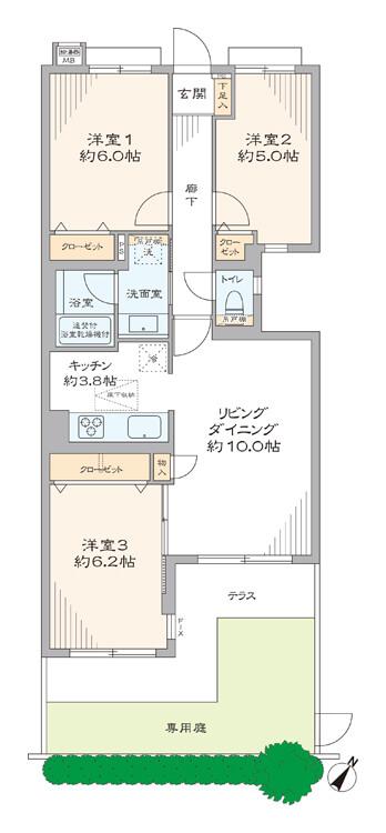 ガーデンホーム落合ヒルズ102