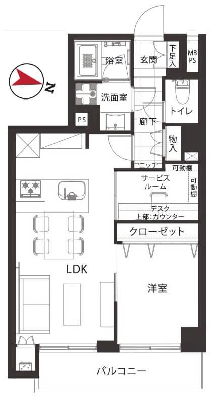 日商岩井赤羽マンション306