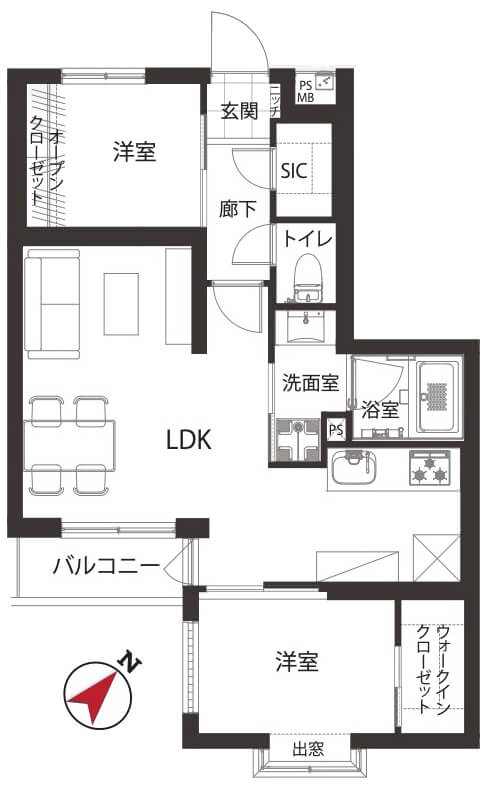 セザール上野毛ガーデン404