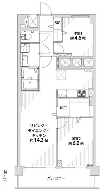 パシフィック自由ヶ丘マンション804