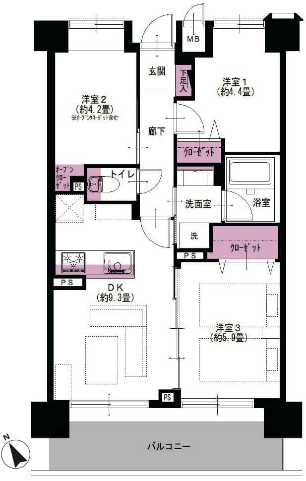 コスモお花茶屋参番館602